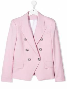 Balmain Kids двубортный пиджак 6M2074MB190