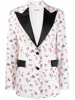 Brognano блейзер с цветочным принтом и широкими лацканами 28BR1G04Y204260