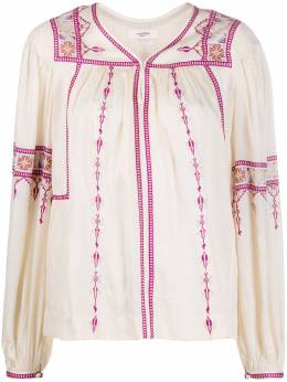 Isabel Marant Etoile блузка с вышивкой HT164020P030E