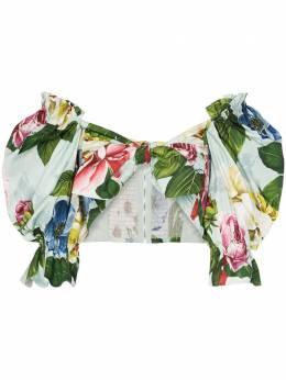 Dolce&Gabbana блузка-бандо с цветочным принтом F74F2THS5GB