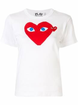 Comme Des Garcons Play футболка с нашивкой-логотипом и принтом AZT085051