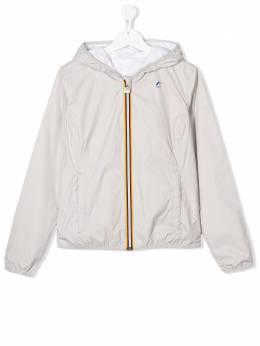 K Way Kids двусторонняя куртка с капюшоном K002XNOTLILYPLUS