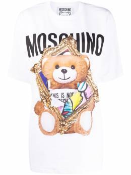 Moschino футболка с логотипом V07030440