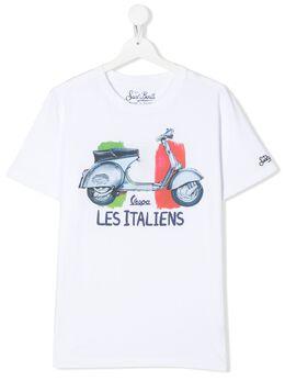 Mc2 Saint Barth Kids футболка Les Italiens с принтом TSHIRTBOY