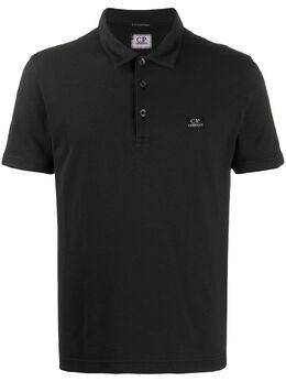 C.P. Company рубашка поло с вышитым логотипом 08CMPL084A000973G