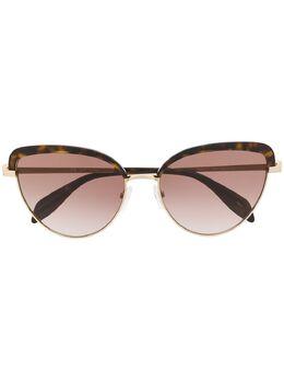 Alexander McQueen Eyewear солнцезащитные очки в оправе 'кошачий глаз' AM0257S