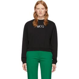 MCQ by Alexander McQueen Black Cameo Logo Sweatshirt 603062ROR41