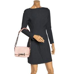 Tod's Blush Pink Leather MIni Double T Shoulder Bag 276383