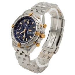 Breitling Black Dial Steel & Yellow Gold Chronomat Chronograph Men's Watch 39MM 275912