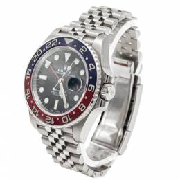 Rolex Gmt-Master Ii Pepsi Blue & Red Ceramic Bezel Steel Men's Watch 40MM