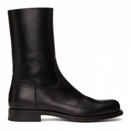 Dries Van Noten Black Half Boots MS27/120 QU120