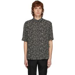 Saint Laurent Black Leopard Shirt 601070Y1A78