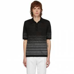 Saint Laurent Black and Silver Lurex Polo 604881YALS2
