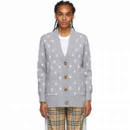 Burberry Grey Monogram Palena Cardigan 8028721