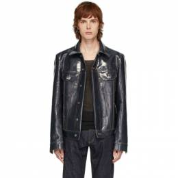 Bottega Veneta Indigo Denim Laminated Jacket 607916 VKNV0