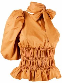 Johanna Ortiz блузка асимметричного кроя с эластичным поясом B1308A