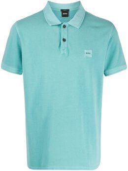 Boss by Hugo Boss рубашка-поло с нашивкой-логотипом 50378365