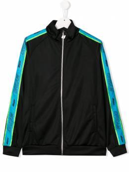 MSGM Kids спортивная куртка с контрастными полосками и логотипом 022426