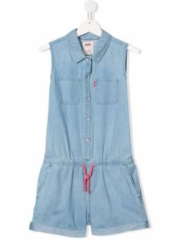 Levi's Kids джинсовый комбинезон без рукавов EA915L3V