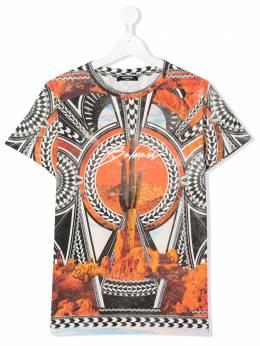 Balmain Kids футболка с графичным принтом 6M8791MX030