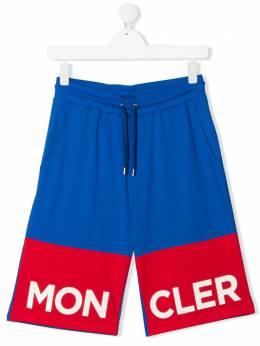 Moncler Kids спортивные шорты в стиле колор-блок 8H7182083907711