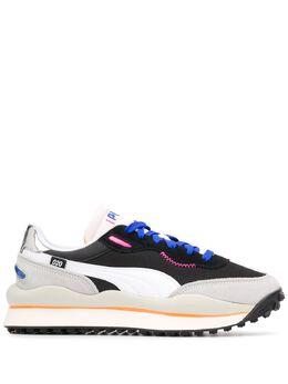 Puma кроссовки с контрастными вставками и вышитым логотипом 371150