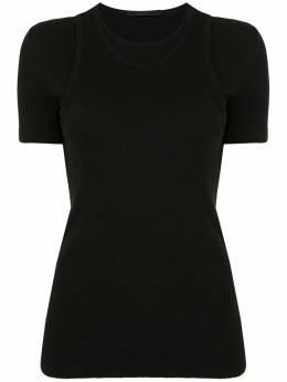 Helmut Lang двухслойная футболка J10HW502