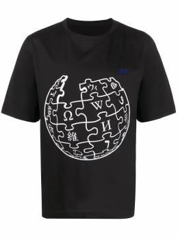 Etudes футболка Unity Sphere Wikipedia с принтом E16S408WK4