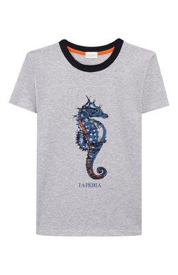 Хлопковая футболка La Perla 67364/8A-14A