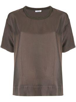 P.a.r.o.s.h. блузка с воротником в рубчик D300763