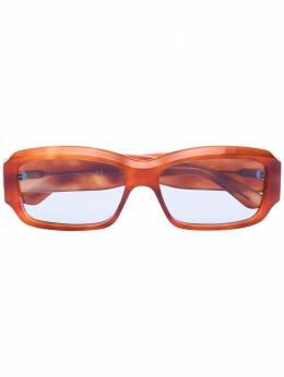 Gucci Eyewear солнцезащитные очки в прямоугольной оправе черепаховой расцветки GG0669S
