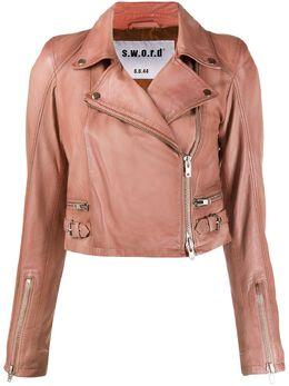 S.w.o.r.d 6.6.44 укороченная куртка с косой молнией SE206244IMP