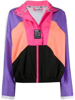 Puma спортивная куртка со вставками и логотипом 598555C88