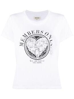 Zadig & Voltaire футболка с логотипом SJTI1802F