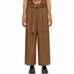 Naked And Famous Denim SSENSE Exclusive Brown Wide Trousers SSE258248