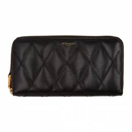 Givenchy Black Quilted Zip Wallet BB608NB08Z