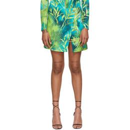 Versace Green Jungle Skirt A83920 A234694