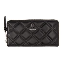 Marc Jacobs Black Quilted Softshot Standard Wallet M0015864