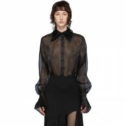 Mugler Black Organza Bodysuit 20S1BO0107363