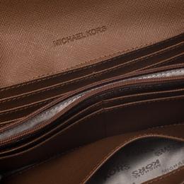 Michael Kors Brown Leather Fulton Flap Continental Wallet MICHAEL Michael Kors