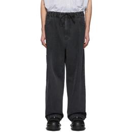 Juun.J Black Wide-Leg Jeans JC0321PD75