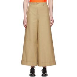 Junya Watanabe Beige Asymmetric Cotton Trousers JE-P020-051-1