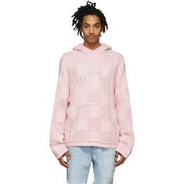 Amiri Pink Quilted Baja Hoodie Y0M05197CR