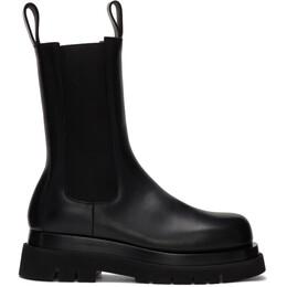 Bottega Veneta Black Leather Chelsea Boots 592081 VIFH0