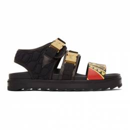 Versace Black Buckle Sandals DSU7872 DVSTTG