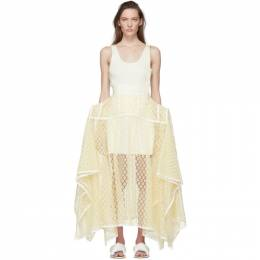 Loewe Yellow Lace Basque Skirt S540344X14
