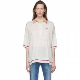 Loewe Off-White and Pink Cashmere Anagram Polo S540333XAJ
