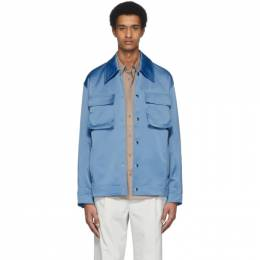 Tibi Blue Duchesse Workmens Jacket S120DU8162
