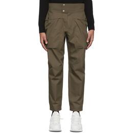 Z Zegna Brown Gabardine Cargo Pants VU041ZZEP03