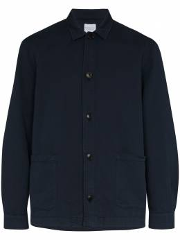 Sunspel куртка-рубашка с накладными карманами MJAC7046